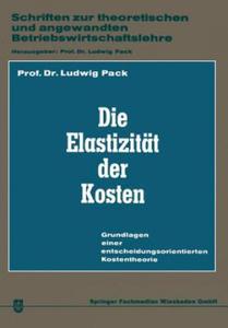 Die Elastizitat Der Kosten - 2854187440