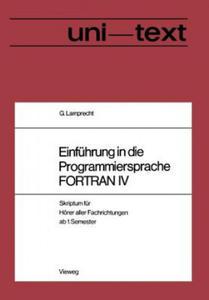 Einführung in die Programmiersprache FORTRAN IV, 1 - 2854189349