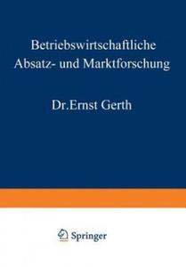 Betriebswirtschaftliche Absatz- und Marktforschung, 1 - 2826831421
