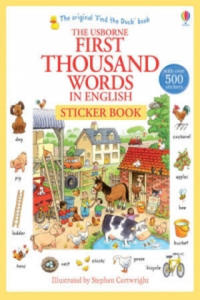 First 1000 Words in English Sticker Book - 2834144857