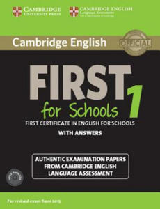 Cambridge English First 1 for Schools for Revised Exam from 2015 Student's Book Pack (Student's Book with Answers and Audio CDs (2)) - 2826623582