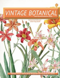 Vintage Botanical Coloring Book Flowers Adult: vintage flower coloring book grayscale coloring books for adults - 2861910847