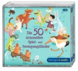 Die 50 schönsten Spiel- und Bewegungslieder, 3 Audio-CDs - 2826805227