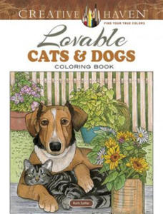 Creative Haven Lovable Cats and Dogs Coloring Book - 2826632423
