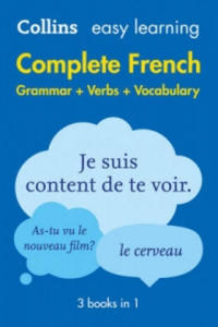 Easy Learning Complete French Grammar, Verbs and Vocabulary (3 Books in 1) - 2854370545