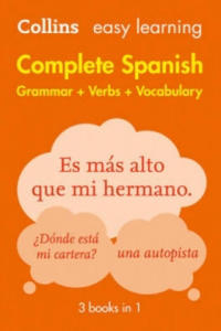 Easy Learning Complete Spanish Grammar, Verbs and Vocabulary (3 Books in 1) - 2854370544