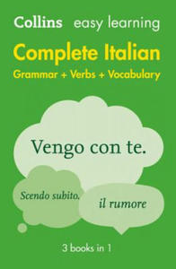 Easy Learning Complete Italian Grammar, Verbs and Vocabulary (3 Books in 1) - 2834155029