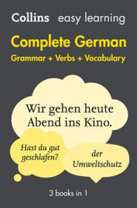 Easy Learning Complete German Grammar, Verbs and Vocabulary (3 Books in 1) - 2826790308