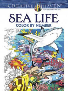 Creative Haven Sea Life Color by Number Coloring Book - 2826627401