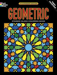 Geometric Stained Glass Coloring Book - 2836092286