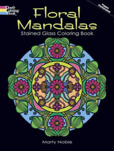 Floral Mandalas Stained Glass Coloring Book - 2826667146