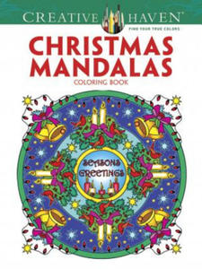 Creative Haven Christmas Mandalas Coloring Book - 2826664240