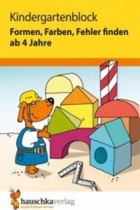 Kindergartenblock - Formen, Farben, Fehler finden ab 4 Jahre - 2827022724