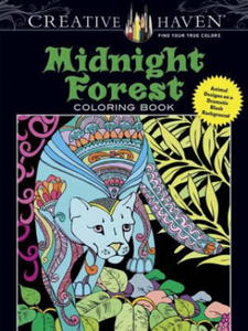 Creative Haven Midnight Forest Coloring Book - 2903136832