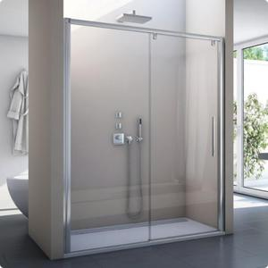 Drzwi rozsuwane dwuczęściowe lewe Pur Light S produkcji SanSwiss PLS2G1200407 - 2849860327