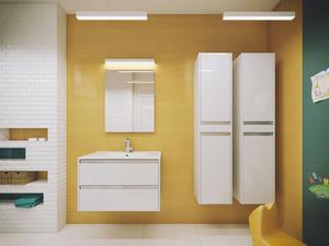 Zestaw mebli łazienkowych Fonte produkcji Deftrans lakier biały połysk - 2856725964