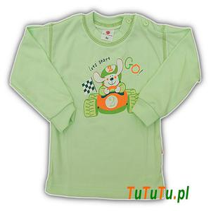 Podkoszulek długi rękaw Jaś zielony zoo r. 104 - 2833343371