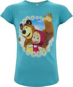 T-shirt Masza i Niedźwiedz niebieski - 2848580560