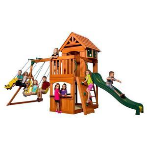 Ogromny Drewniany Plac zabaw Atlantic Backyard Discovery + Stolik gratis! - 2862360308