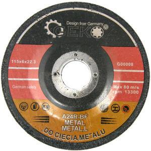Tarcze do szlifowania metalu 115 x 6 mm x 22,2 mm GEKO
