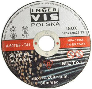 TARCZE DO CIĘCIA INOX 125 x 1,0 x 22 INTERVIS