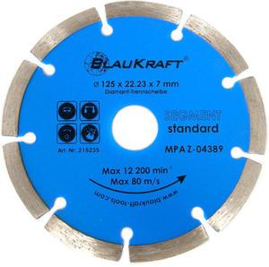 TARCZA DIAMENTOWA 125 x 22.2  mm BLAUKRAFT SEGMENT