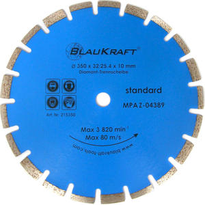 TARCZA DIAMENTOWA 350 x 25.4 x 10 mm BLAUKRAFT SEGMENT