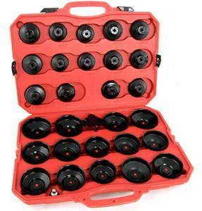 ZESTAW KLUCZY do filtrĂłw oleju 30 elementĂłw +  klucz pazurkowy