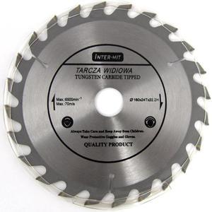 TARCZA DO DREWNA 160 x 22,2 mm T24 INTER CRAFT