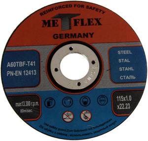 Tarcze do cięcia STALI 115 x 1,0 mm METFLEX