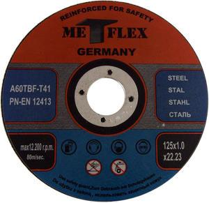 Tarcze do cięcia STALI 125 x 1,0 mm METFLEX