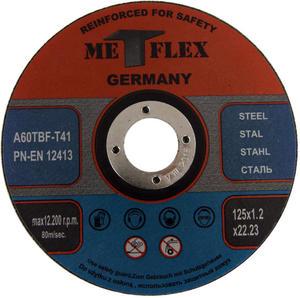 Tarcze do cięcia STALI 125 x 1,2 mm METFLEX