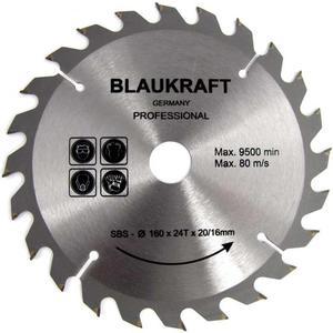 TARCZA DO DREWNA 160 x 20 / 16 mm T24 BLAUKRAFT