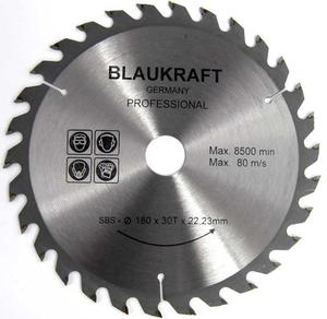 TARCZA DO DREWNA 180 x 22,2 mm T30 BLAUKRAFT