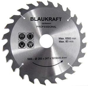 TARCZA DO DREWNA 200 x 32 / 30 / 25,4 mm T24 BLAUKRAFT