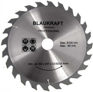 TARCZA DO DREWNA 250 x 32 / 30 / 25,4 mm T24 BLAUKRAFT