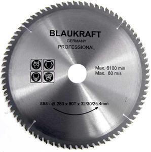 TARCZA DO DREWNA 250 x 32 / 30 / 25,4 mm T80 BLAUKRAFT