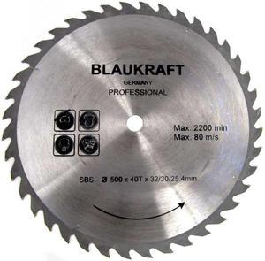 TARCZA DO DREWNA 500 x 32 / 30 / 25,4 mm T40 BLAUKRAFT