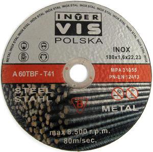 TARCZE DO CIĘCIA METALU 180 x 1.6 x 22.2 mm MET-FLEX