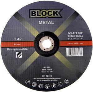 TARCZE DO CIĘCIA 230 x 3,0 x 22 BLOCK METAL WYPUKŁA