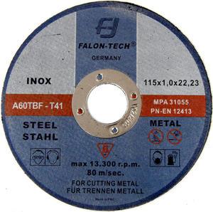 Tarcze do cięcia INOX 115 x 1,0 mm FALON-TECH