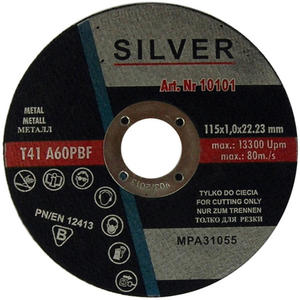 TARCZE DO CIĘCIA 115 x 1 x 22,2 mm SILVER METAL