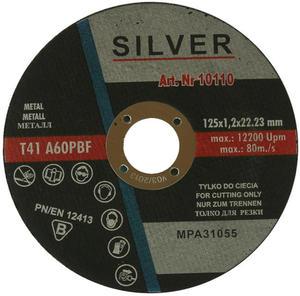 TARCZE DO CIĘCIA 125 x 1.2 x 22,2 mm SILVER METAL