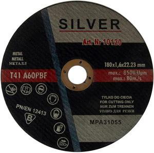TARCZE DO CIĘCIA METALU 180 x 1.6 x 22.2 mm SILVER METAL