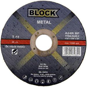 TARCZE DO CIĘCIA 115 x 2,5 x 22 BLOCK METAL