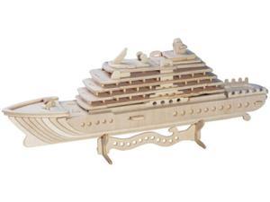 Jacht luksusowy składanka drewniana