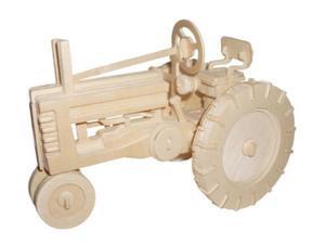Traktor składanka drewniana