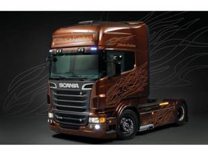 Scania R730 Black Amber - 2850352373