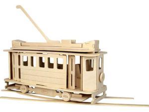 Tramwaj składanka drewniana