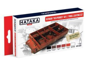 Zestaw farb akrylowych niemiecki czerwony podkład - 2850352803